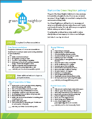 Image of Green Neighbor Checklist