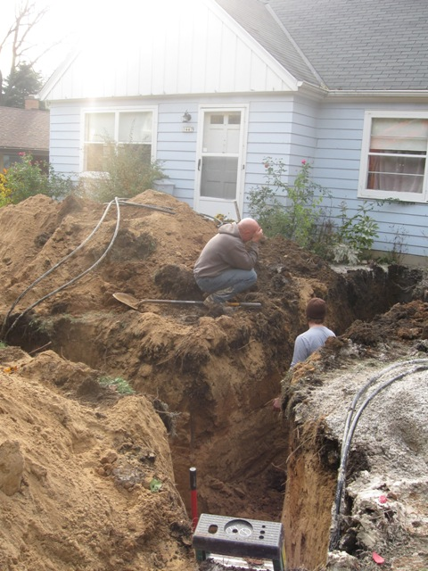 Trenching to the House
